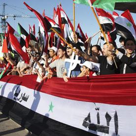 Anti-Assad protesters in Jordan (Reuters)