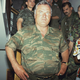 General Ratko Mladic in 1992 after being made commander of Bosnian Serb army (Getty)