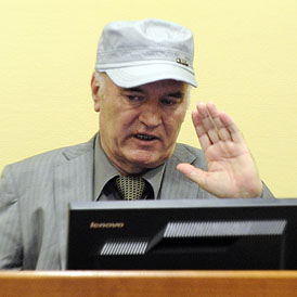 Ratko Mladic during his first court appearance (Reuters)