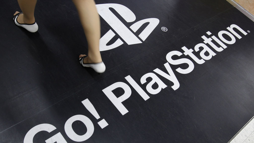 Floor advertisement for Sony's PlayStation 3 in Tokyo (Reuters)