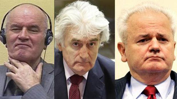 Ratko Mladic, Slobodan Karadzic and Radovan Karadzic (Reuters)