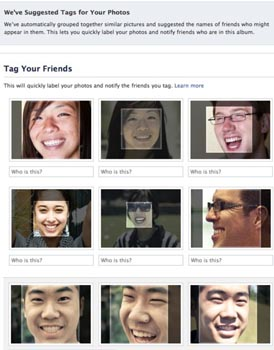 Facebook face recognition tool privacy concerns.
