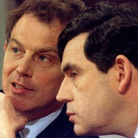 Tony Blair and Gordon Brown 1997: new documents reveal the depth of bitterness between the two men as they haggled for control of number 10 (Reuters)