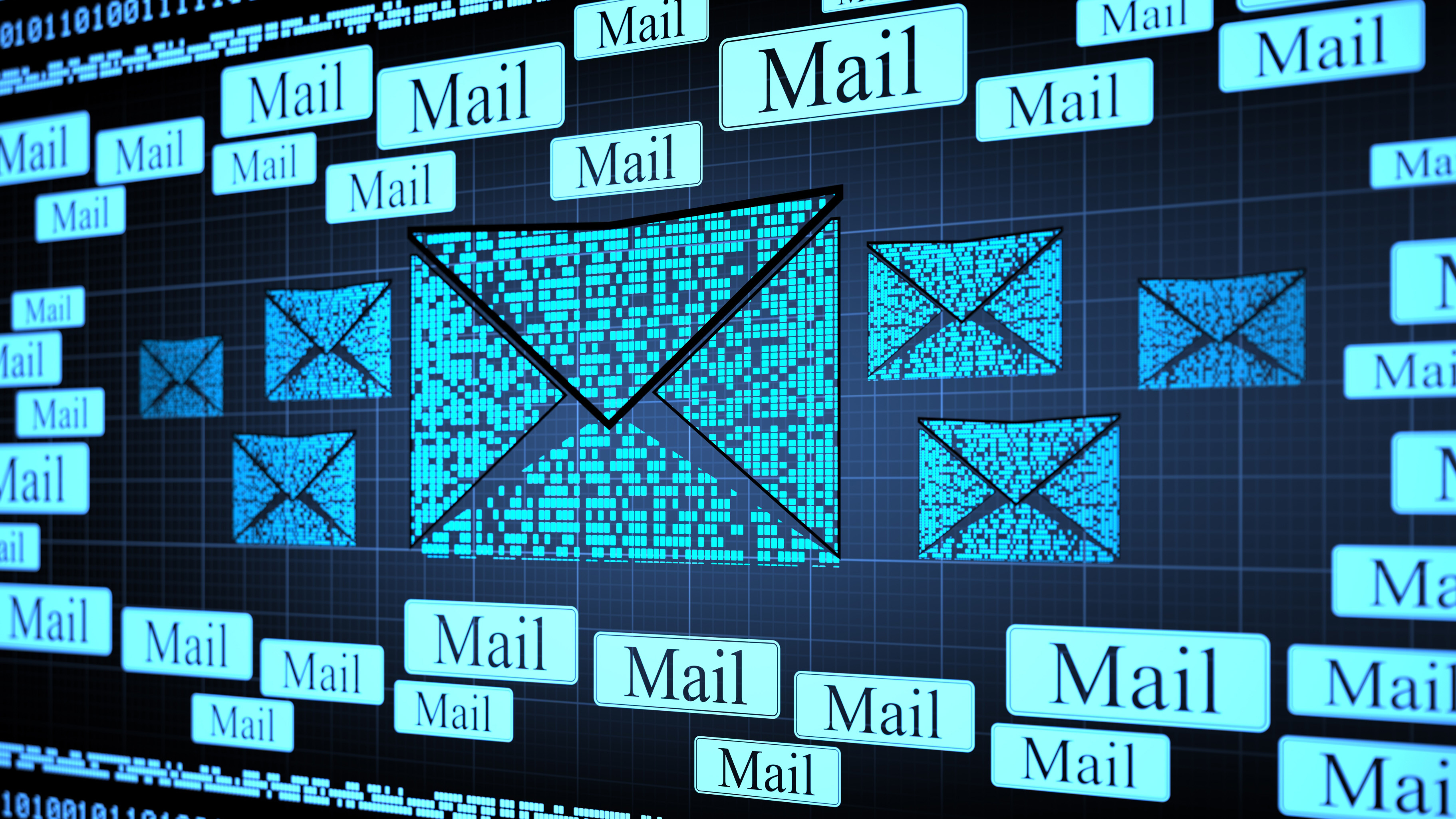 Email Connections digital 3d background