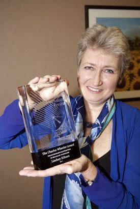 Lindsey Hilsum wins the Charles Wheeler award.