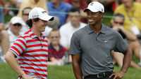 A very exclusive club: Rory McIlroy and Tiger Woods