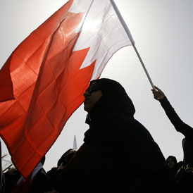A Bahraini protester in February (Getty)