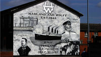 The Titanic mural in East Belfast (Getty)