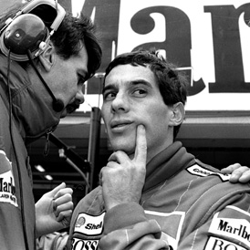 Ayrton Senna for McLaren. (Reuters)