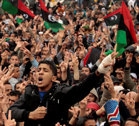 Libya: Shots fired at protests as money ship seized