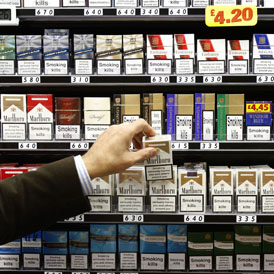 From 2012 shopkeepers will no longer be allowed to display tobacco (reuters)