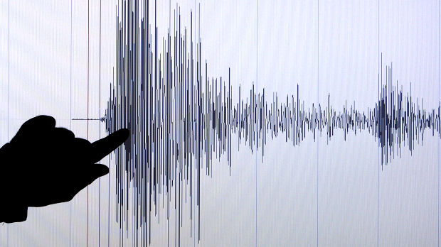 A seismographical chart of the tsunami off the coast of north east Japan on 11 March 2011 (Reuters)