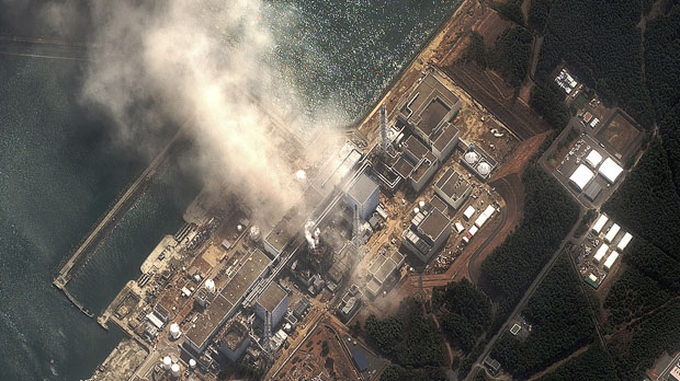 Japan crisis: new aerial image of Fukushima. (Reuters)