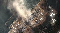 satellite image of Fukushima Daiichi nuclear plant after earthquake and tsunami