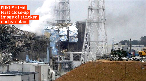 Photo released by Tokyo Electric Power shows extent of damage in No 4 reactor at Fukushima (Tepco)