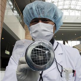 Masks used at nuclear plants in Fukushima.