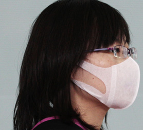 Japanese woman wearing face mask (R)