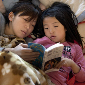 Japan: thousands of children have been affected by the tsunmai (Getty)