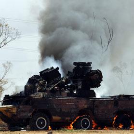 Libya: Gaddafi base hit in second night of allied bombing