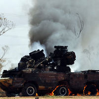 Libya: Gaddafi base hit in second night of allied bombing
