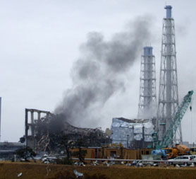 Japan crisis: smoke rises from Fukushima nuclear plant. (Reuters/TEPCO)