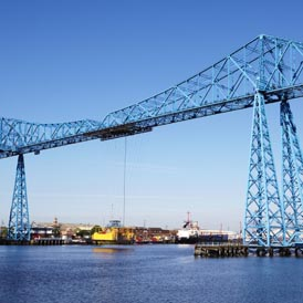 The Tees transporter bridge in Middlesbrough (Getty)