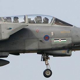 RAF Tornado lands at RAF Marham