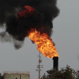 An oil terminal is seen after it was retaken by rebels from Muammar Gaddafi's forces in Zueitina (Reuters)