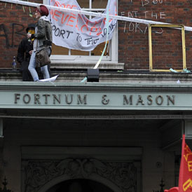 Members of UK Uncut were arrested after staging a sit-in at the luxury West End food emporium Fortnum and Mason on Saturday