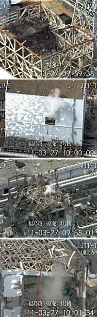 Four of the stricken reactos at Fukushima (reuters)