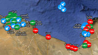 Libya war: interactive video timeline map
