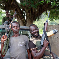 Pro-Ouattara soldiers in western Ivory Coast (Getty)