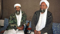 Osama bin Laden with Ayman al Zawahiri in Afghanistan in 2001 (Reuters)