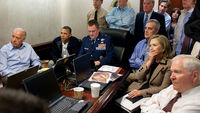 Obama and Clinton watch Bin Laden raid live (reuters)
