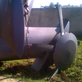 A pan-like cover can be seen over the aircraft's rear rotor blade - a modification experts say would reduce noise and the helicopter's radar profile