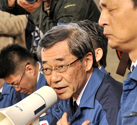 President of Japan's TEPCO speaks out as workers head back into Fukushima (Image: Getty)