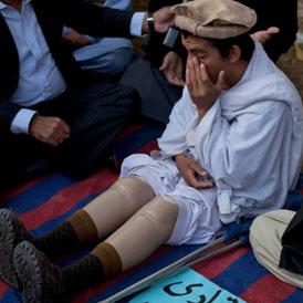 Pakistan drone war: Sadaullah, 15, lost both his legs in a drone strike.