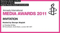 Amnesty Media Awards 2011: Channel 4 News digital media nomination.