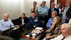 White House bin Laden situation room: original photo.