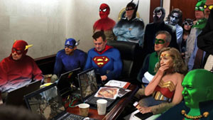 Situation room super heroes. (Photo: Twitter/@hebrewzzi)
