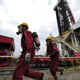 shale gas workers in China (reuters)