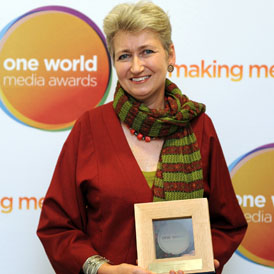 Lindsey Hilsum named One World's Journalist of the Year.