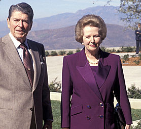 Margaret Thatcher with Ronald Reagan (Image: Getty)