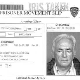 Ex-IMF boss Dominique Strauss-Kahn's prison card (Reuters)