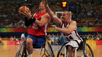 The British men's wheelchair basketball team won bronze at the Paralympics in Beijing (Getty)