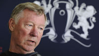Alex Ferguson at Tuesday's press conference (Reuters)
