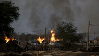 Abyei on fire (reuters)
