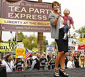 Sarah Palin and the Tea Party in the US midterm elections (Reuters).