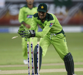 Pakistan's wicket keeper Zulqarnain Haider playing in the one day series against South Africa in Dubai (Reuters)