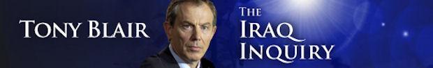 Tony Blair at the Iraq inquiry.